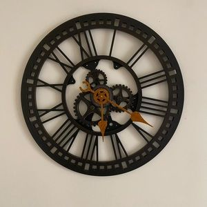 Indrustrial Style Battery Operated Clock